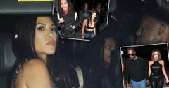 Kourtney Kardashian Wears Bra To Party With Luka Sabbat