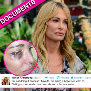 //taylor armstrong abuse medical record