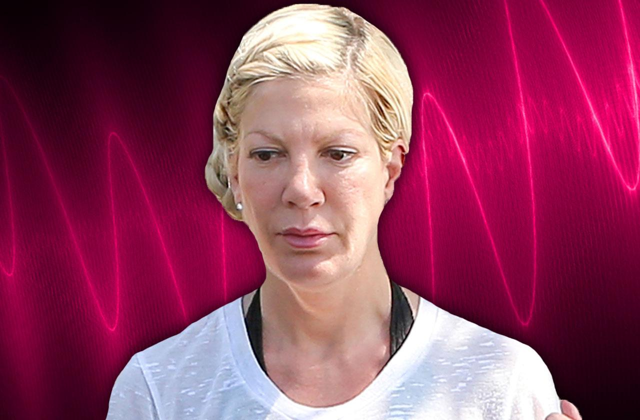 //tori spelling nervous breakdown mental illness cops called pp
