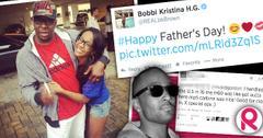 //bobbi kristina reunite father bobby brown whitney houston husband nick gordon gun twitter wide