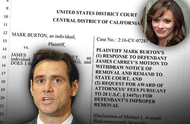 jim carrey sued wrongful death cathriona white estranged husband case removal