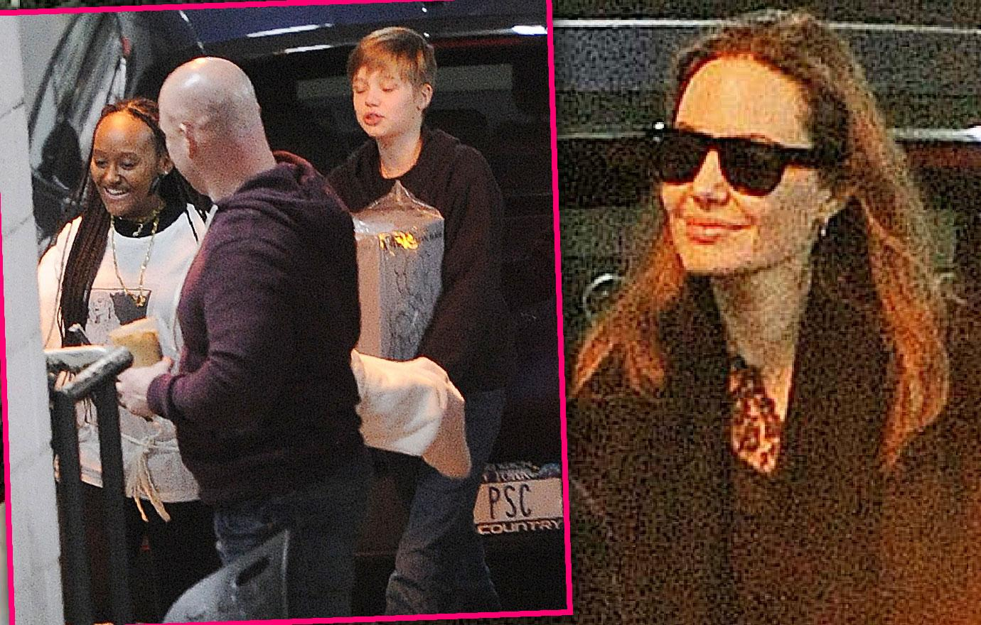 Angelina Jolie And Kids Visit New York