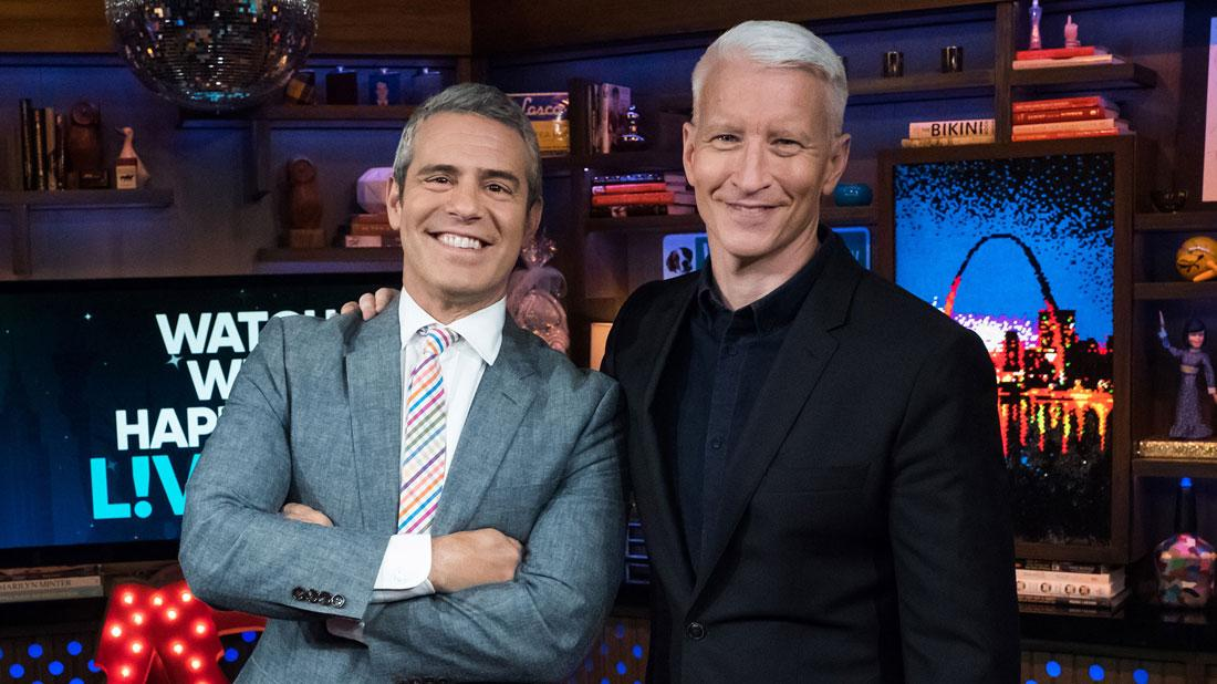 WATCH WHAT HAPPENS LIVE WITH ANDY COHEN -- Pictured (l-r): Andy Cohen and Anderson Cooper