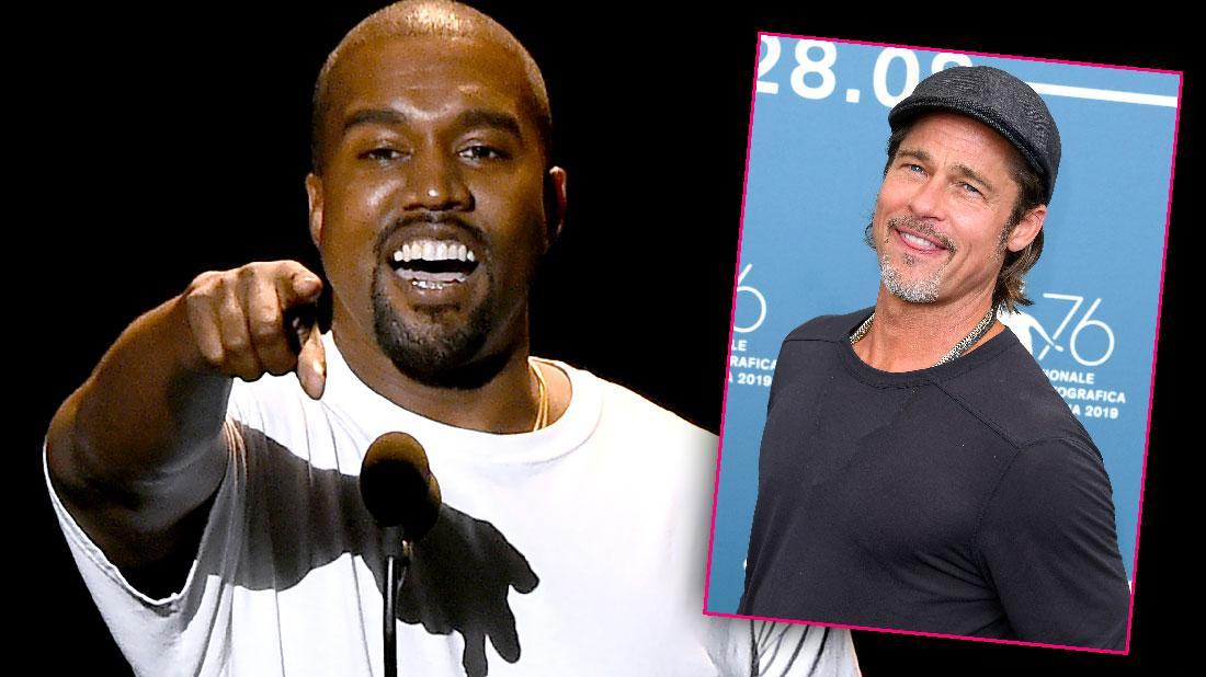 Brad Pitt Attends Kanye West's Sunday Church Service