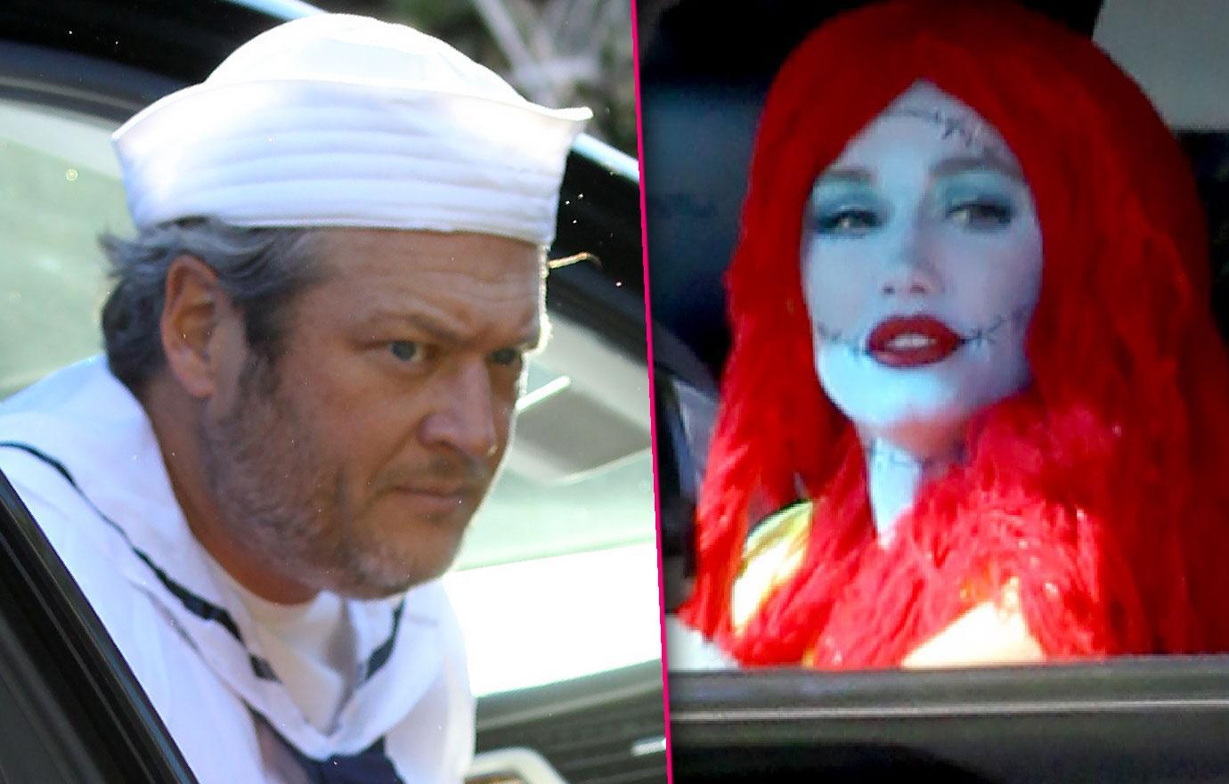 Gwen Stefani And Blake Shelton Take Kids To Halloween Party