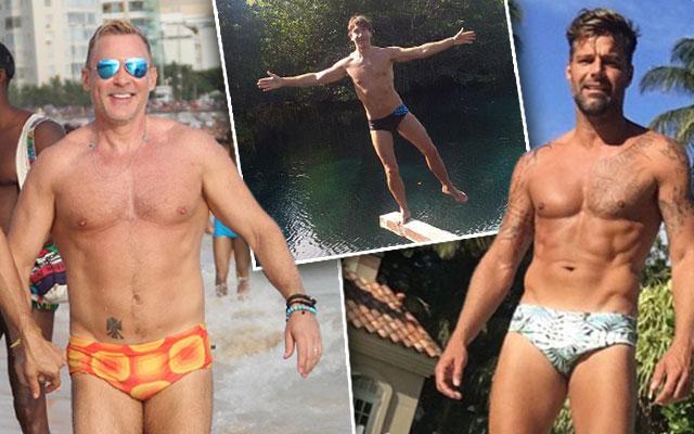 Ricky Martin Speedo Sam Champion Bathing Suit