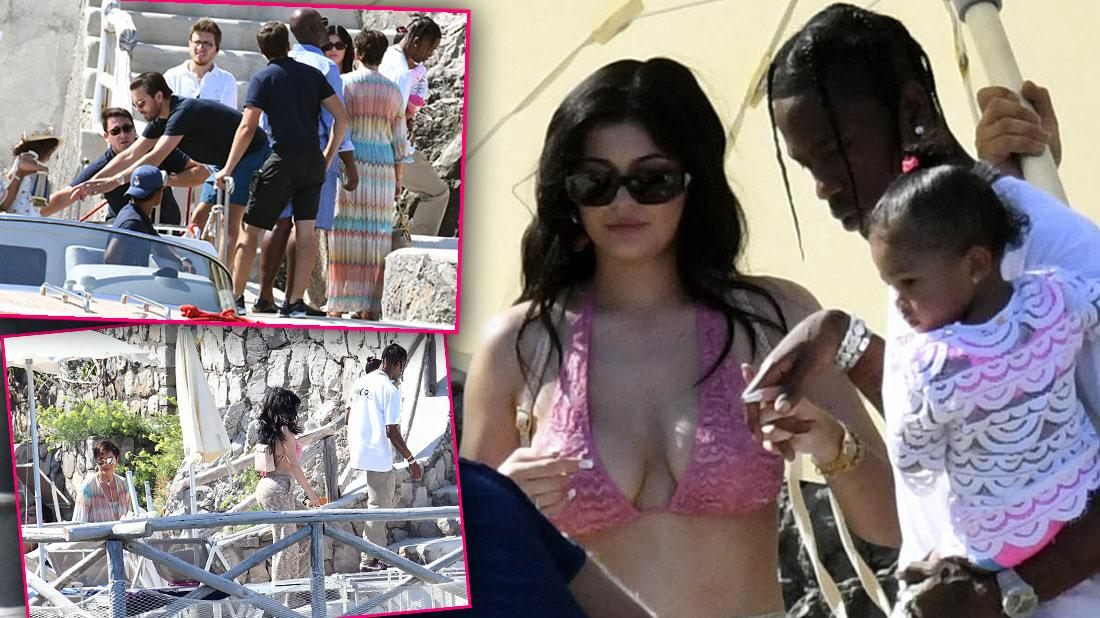 Kylie Shines In Revealing Bikini Top During Family Lunch In Italy