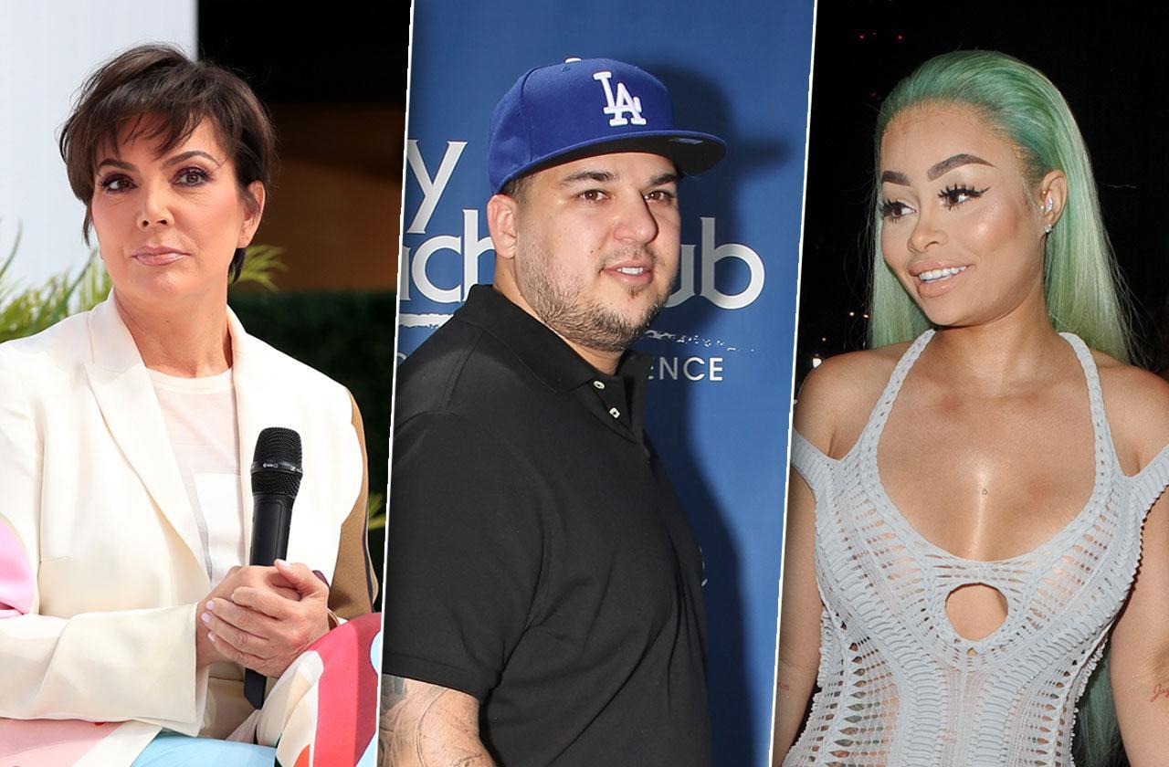 Rob Kardashian Blac Chyna Kris Jenner