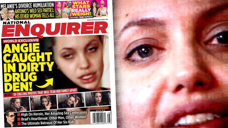 //angelina jolie drugs phone skinny brad pitt national enquirer exclusive  wide