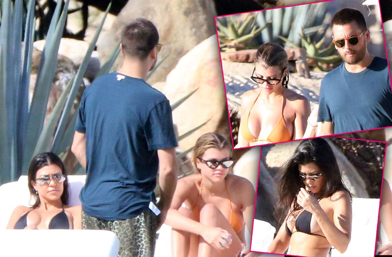 Kourtney Kardashian & Sofia Richie Thong Bikinis Vacation Scott Disick
