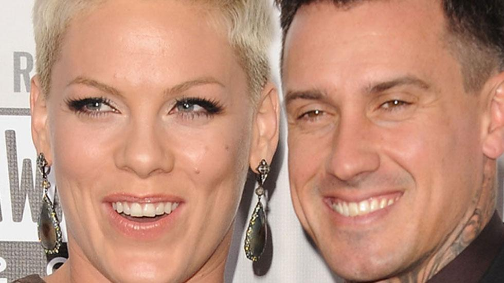 //pink with her husband carey hart