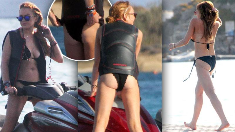 //lindsay lohan saggy bottom pp