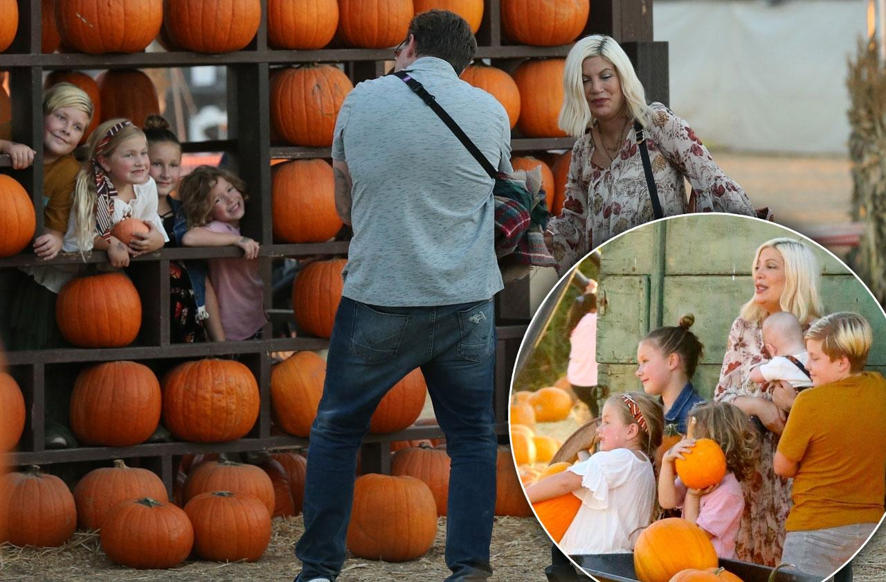 Tori Spelling Dean kids pumpkin patch