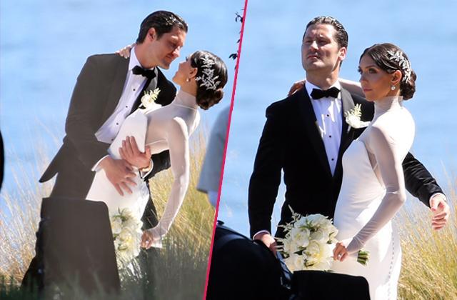 Inside val chmerkovskiy tuxedo jenna johnsons wedding dress