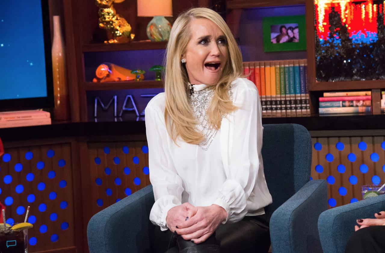 Kim Richards in a white sweater