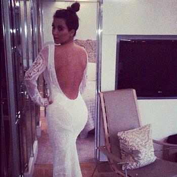 //kim kardashian white dress