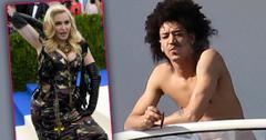 Madonna's Shirtless New Boytoy Ahlamalik Preens On Balcony