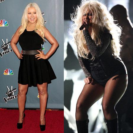 //christina aguilera weight loss wenn getty