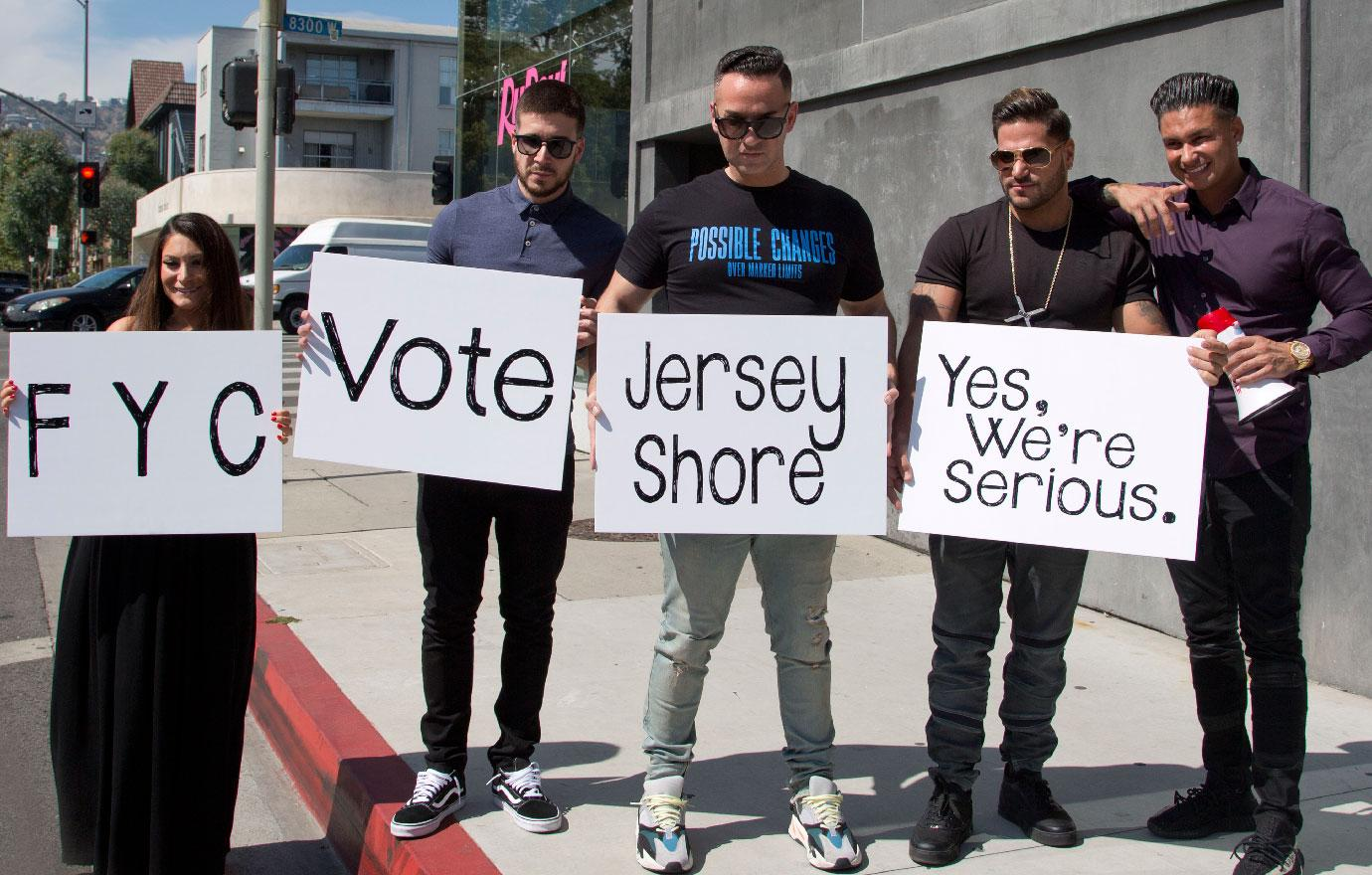Jersey Shore Cast Take To The Streets On Emmy Campaign