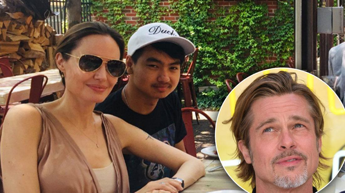 Angelina Celebrates Son Maddox's 18th Birthday In Ohio