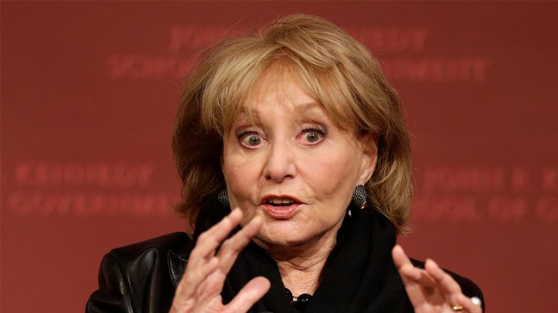 Barbara Walters Closeup Looking Distressed