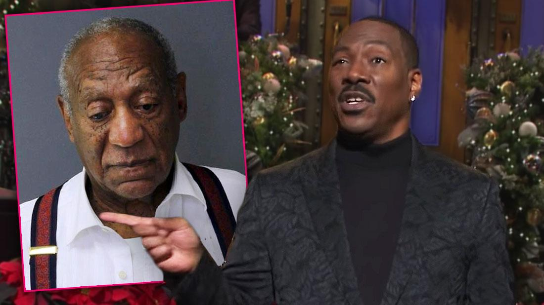 Eddie Murphy Jokes About Bill Cosby In 'SNL' Speech: 'Who's America's Dad Now?'