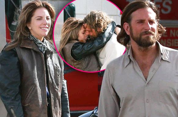 //lady gaga bradley cooper kiss star is born pp