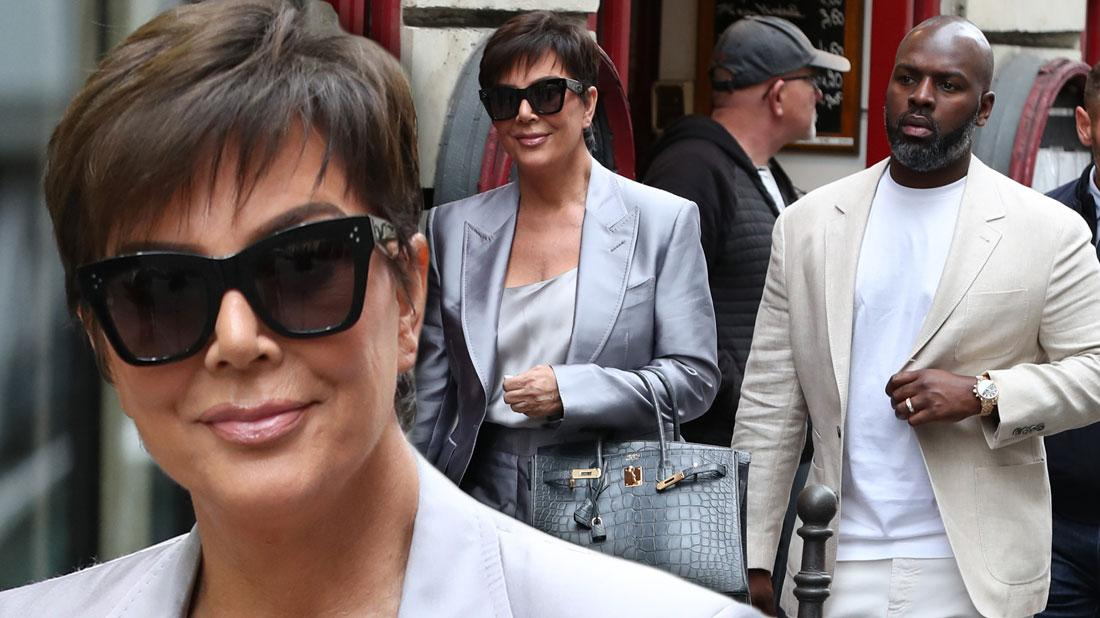 Kris Jenner & Corey Gamble In Paris After 'KUWTK' Fight