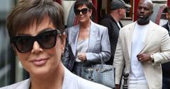 Kris Jenner & Corey Gamble In Paris After 'KUWTK' Fight