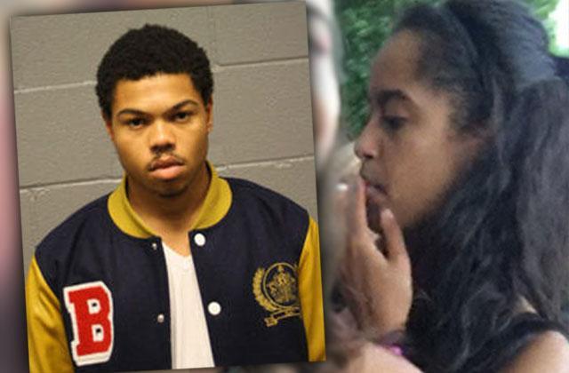 //malia obama smoking pot taylor bennett rapper arrest probation violation