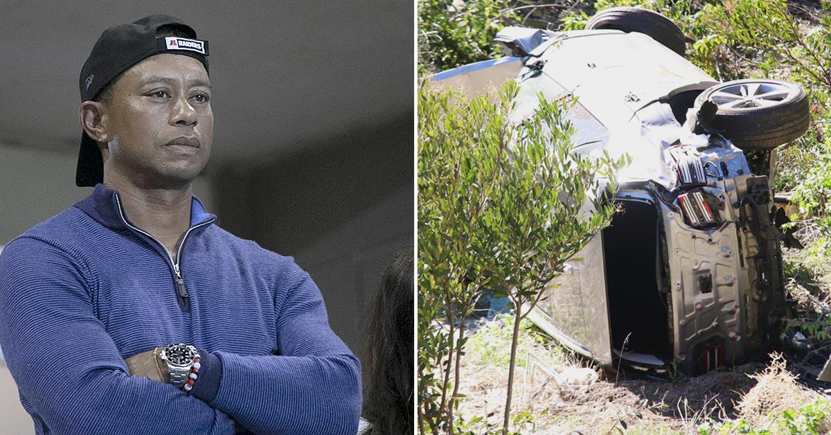 tiger woods car crash accident caused by speeding