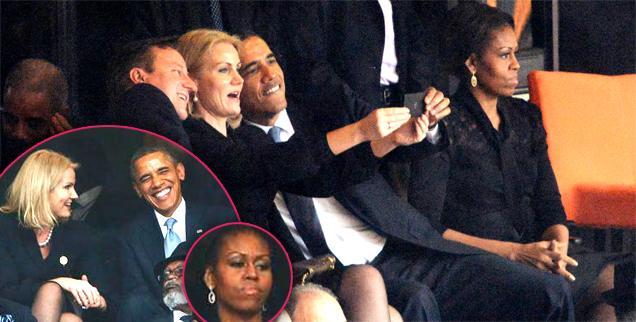 //michelle obama not happy president barack flirt helle thorning schmidt wide