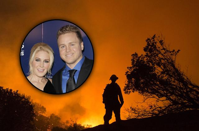 Mandeville Canyon Fire Threatens Celeb Homes Spencer Heidi