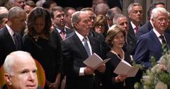 John McCain Memorial Service Famous Friends Say Goodbye