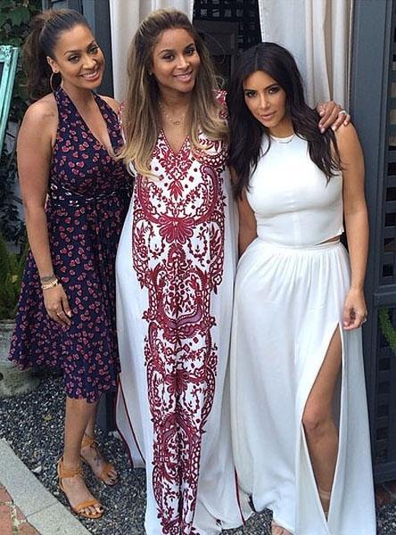 Kim Kardashian Layla Vasquez Ciara Babyshower