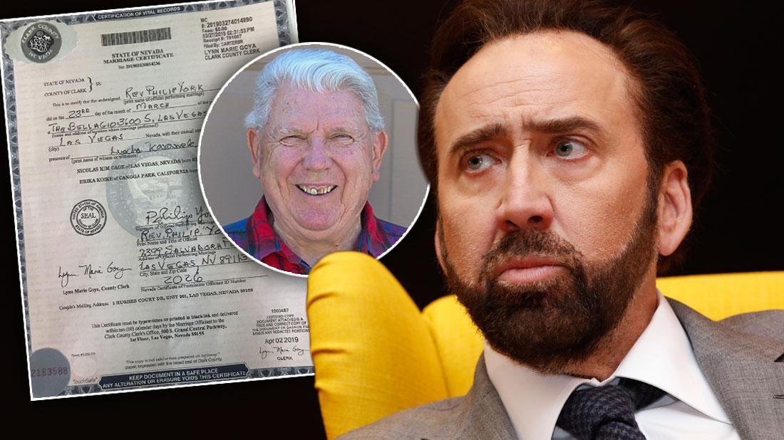 Nicolas Cage's Wedding Reverend 'Dumbfounded' & 'Shocked' Over Annulment