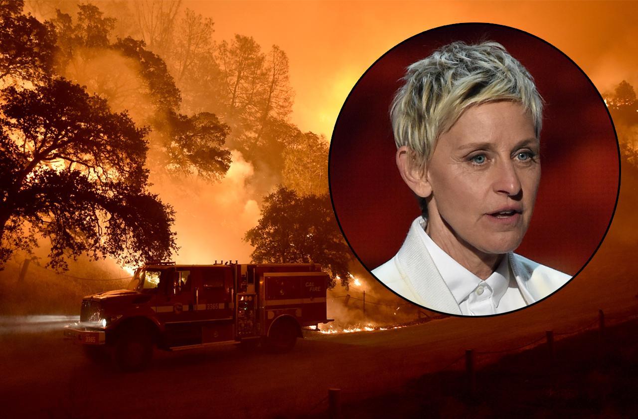 //ellen degeneres new multi million dollar home threatened by wildfires pp