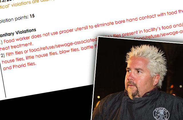Guy Fieri Restaurant Slammed Health Inspection