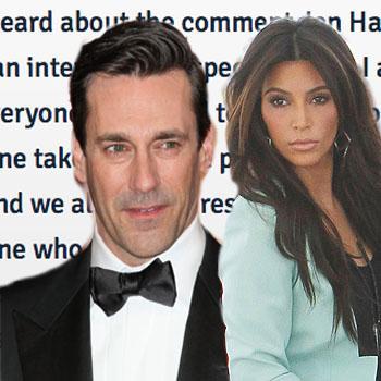 //kim kardashian slams jon hamm twitter