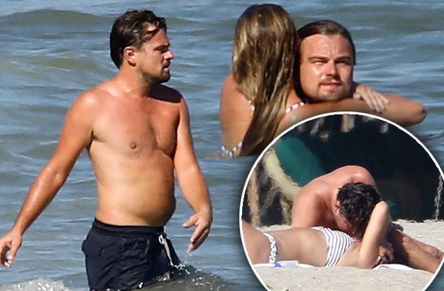 //leonardo dicaprio shirtless beach new girlfriend nina agdal