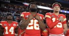 Sammy Watkins (14), Damien Williams (26), Patrick Mahomes (15), Kansas City Chiefs Super Bowl Champs Party at Lavo In Vegas