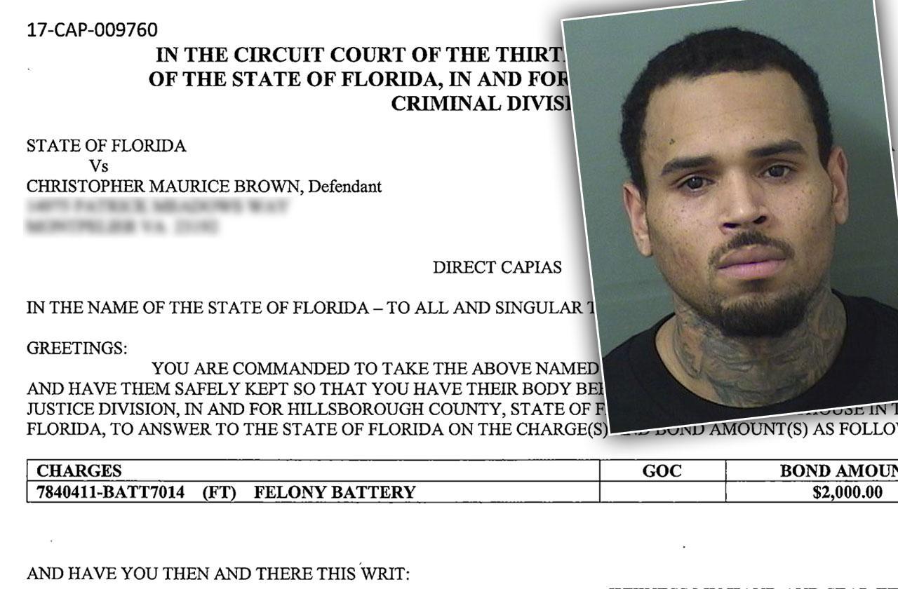 Chris Brown Warrant Revealed