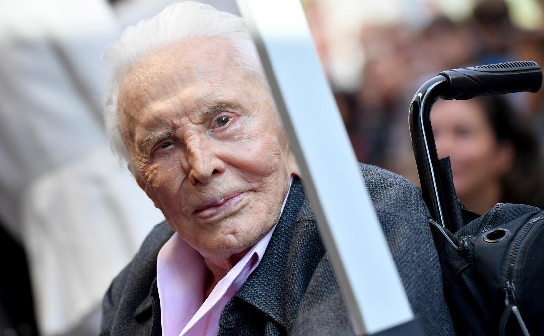 Kirk Douglas attended the ceremony honoring Michael Douglas with star on the Hollywood Walk of Fame on November 06, 2018 in Hollywood, California.
