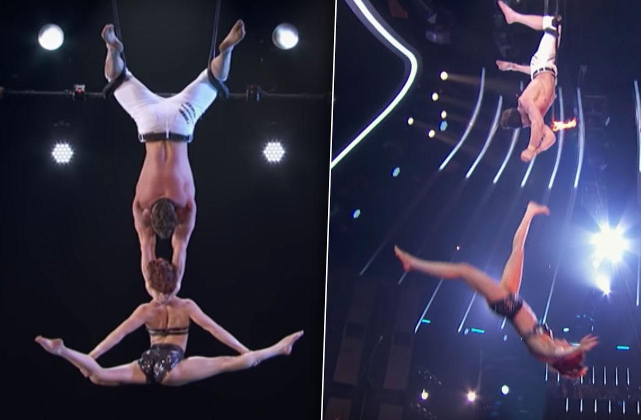 Americas Got Talent Trapeze Fall Video