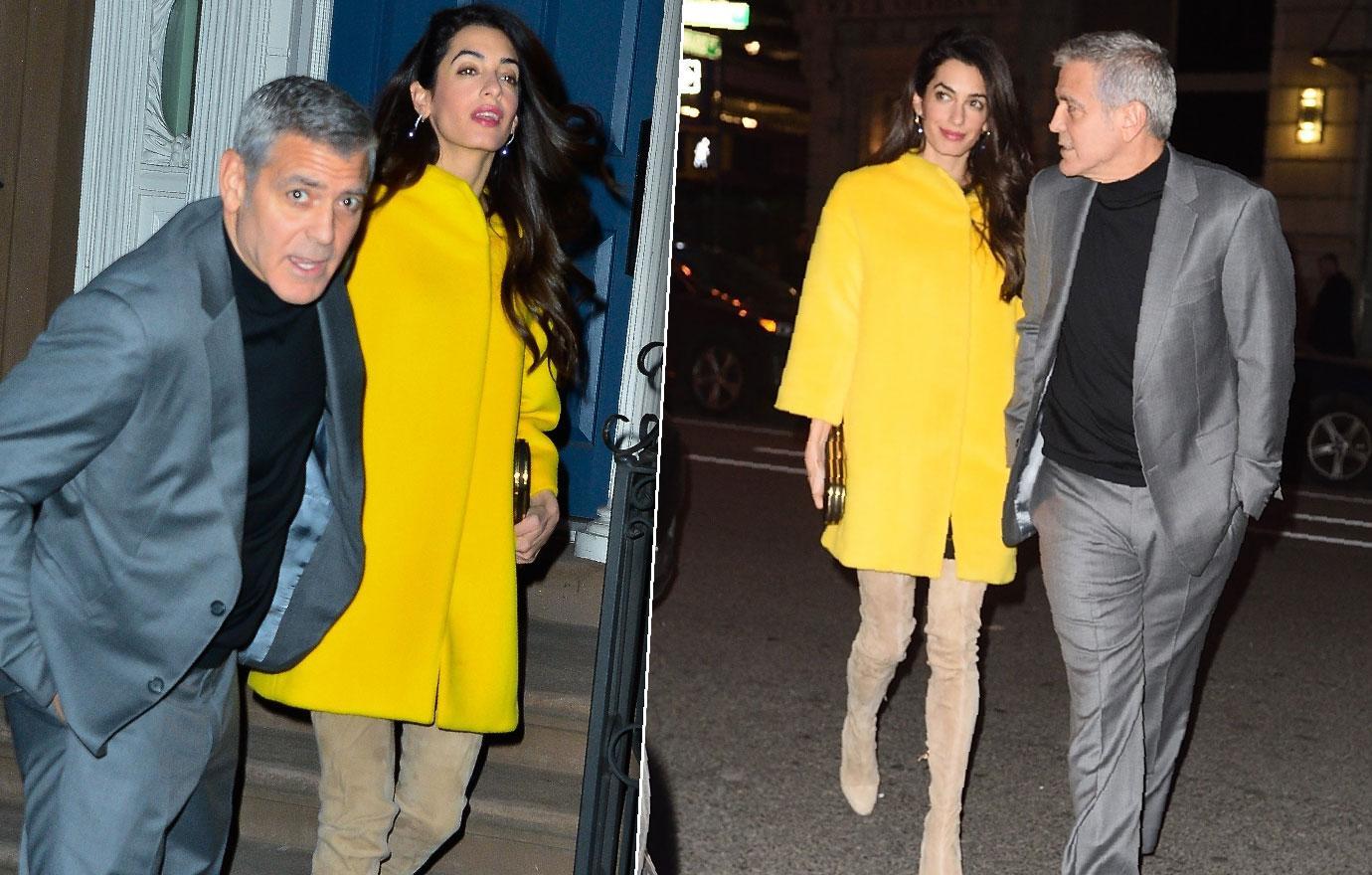 George Clooney Amal Hides Scary Skinny Body