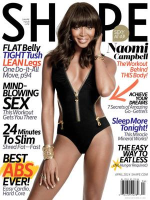 //naomi campbell shape magazine amazing body tall