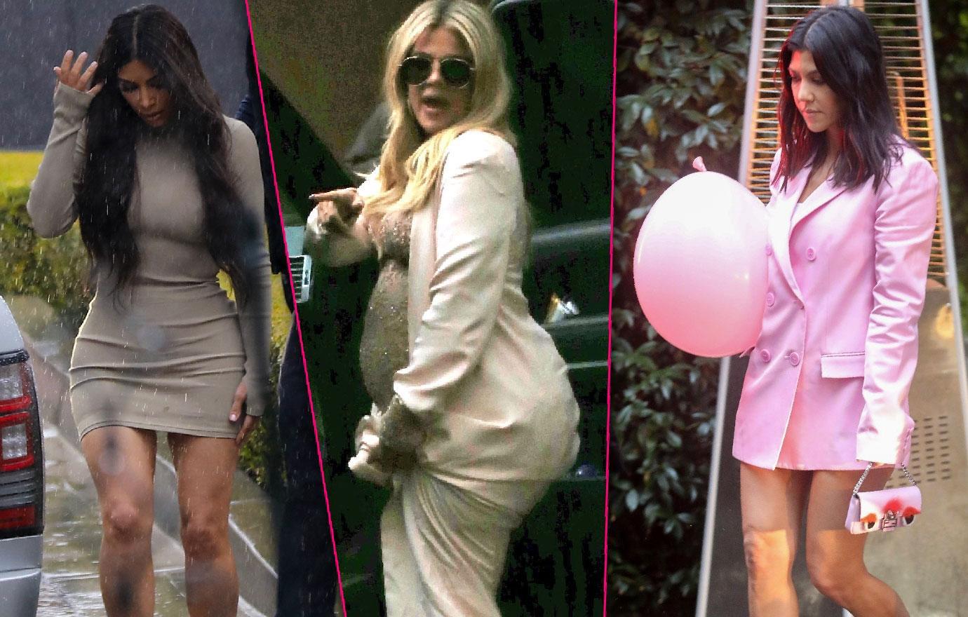 Kyle Richards Kim Zolciak Brielle Attend Khloe Kardashian Baby Shower