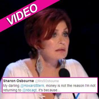 //sharon osbourne tweet nbc