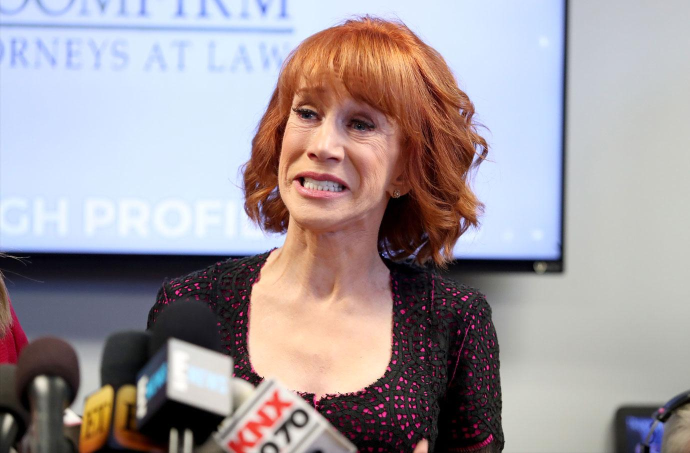 Kathy Griffin Donald Trump Photo Press Conference