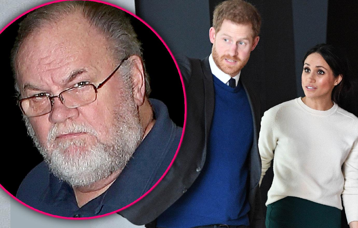 Prince Harry Calls Meghan Markle's Reclusive Dad Often